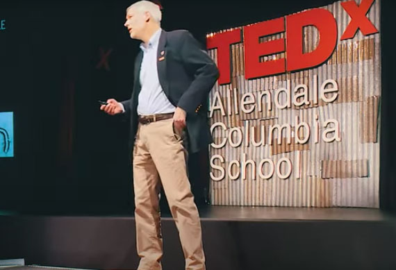 Mark Kortepeter speaks at TEDx Allendale Columbia School