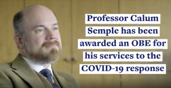 Professor Calum Semple awarded OBE for COVID-19 efforts